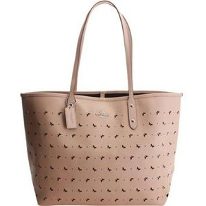 NWT Coach City Tote Butterfly Perforated Leather